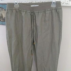 Ellen Tracy linen pants adjustable length M
